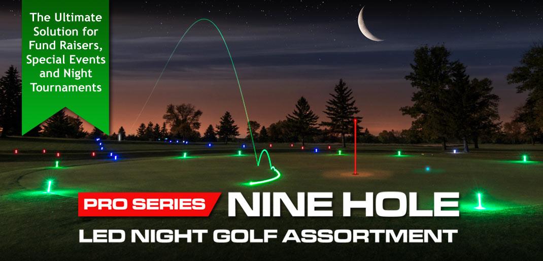 Nine Hole Night Golf Set